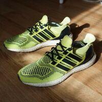 Adidas Ultraboost 1.0 Solar Yellow Uk 9.5 Trainers Knit 1 Boost Volt Original