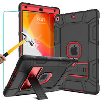 For iPad 10.2 7th Generation Gen 2019 Stand Case+Tempered Glass Screen Protector