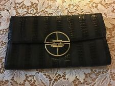 River Island Patent Paisley Lined Clutch Bag Geometric Large