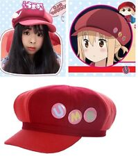"Himouto! Umaru-chan Doma Cosplay Cute Wool Hat Cap with 3 ""UMR"" Badges"