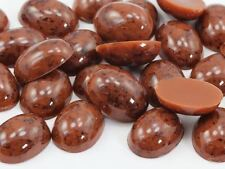 25x18mm Brown H617 Oval Marble Cabochon High Quality 12PCS