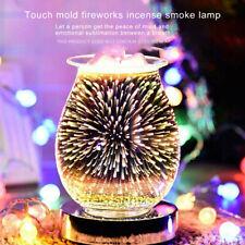 3D Glass Electric Firework Oil Wax Melt Burner Fragrance Aroma Touch Lamp 2020