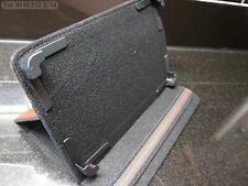 """Brown Secure Multi Angle Carry Case/Stand for 7"""" Coby Kyros Android Tablet PC"""