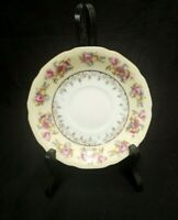 SET OF 4 SHABBY CHIC HOSTESS/GOLD CASTLE CHINA PATTERN SMALL PLATE SAUCERS JAPAN