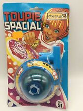 Vintage Space Toys TOUPIE SPACIAL Spinning Saucer UFO Obertoys PACKAGED 1980's