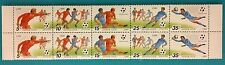 Russia (USSR) 1990  Block of 10 MNHOG variety stamps football  ITALY-90