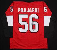 Magnus Paajarvi Signed Ottawa Senators Ice Hockey Jersey Beckett COA Autographed