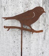 Gartenstecker Vogel 2 Zierstecker für Blumenbeet /& Balkonkasten Edelrost