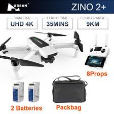 Hubsan Zino 2+ Plus Drone GPS 9KM HD 4K Camera 3-axis Gimbal Quadcopter With Bag
