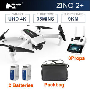 Hubsan Zino 2+ Plus Drone GPS 9KM HD 4K Camera 3-axis Gimbal Quadcopter With Bag