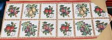 """Extra Long Tapestry Table Runner, (13"""" x 76"""") FRUITS ASSORTMENT"""