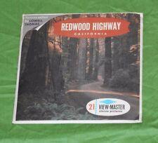 vintage REDWOOD HIGHWAY (California) VIEW-MASTER REELS