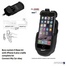 Bury S9 System 9 Active Cradle Car Kit iPhone 6 Plus with system 9 Base complete