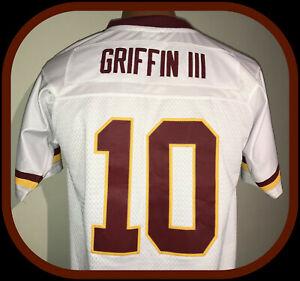 WASHINGTON REDSKINS ROBERT GRIFFIN RG 111 REEBOK ON FIELD JERSEY YOUTH LG + 2 IN