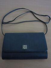 Vintage Designer Givenchy Navy Blue Leather Purse