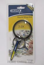 Draper 28582 70mm Diameter X3 Round Magnifier Magnifying Glass FREEPOST