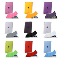 Slim Smart Cover + Transparent Hard Back Shell Case for Apple iPad 2 3 4 *NEW*