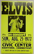 """Elvis Presley Concert Poster - 1977 - Civic Center, Hartford, CT - 14""""x22"""""""