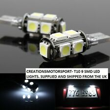 Wedge 501 T10 WSW 12V 2 x 9 SMD XENON WHITE LED SIDE LIGHTS