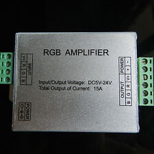 New 12V 15A RGB Singal Repeater Amplifier For 5050/3528 SMD RGB LED Strip Light