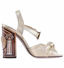 Buckle High (3 in. and Up) Block Leather Sandals & Flip Flops for Women
