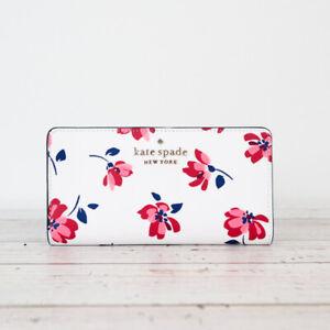 NWT Kate Spade Staci Tea Garden Toss Large Slim Bifold Wallet