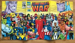 Marvel The Infinity War #1 June 1992 Comic Book Thor Thanos Captain Spider Man