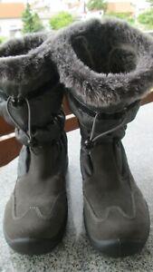 Goretex Stiefel Schneeschuhe Winterschuhe Goretex grau gefüttert Gr. 38 NEU