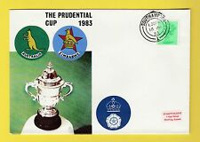 CRICKET - STAMP COVER - PRUDENTIAL CUP -  AUSTRALIA  V  ZIMBABWE  -  1983