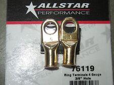 "Allstar Performance ALL76119 4 Gauge Ring Terminals 3/8"" Hole 2 pk Battery"