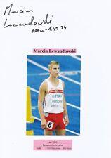 Marcin Lewandowski  Polen  Leichtathletik  Karte signiert WL 346552
