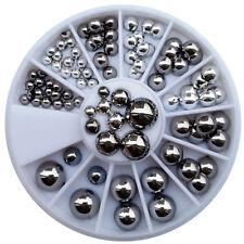 Decorazioni in argento brillante per unghie