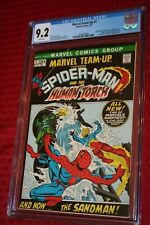 MARVEL TEAM UP #1 CGC 9.2  AMAZING SPIDER-MAN HUMAN TORCH WHITE PAGES!