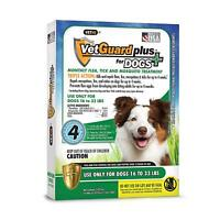 Vet guard Plus For Dogs (Medium Dogs 16lbs-33lbs) 4 Month Flea Treatment