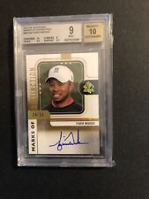 2012 Tiger Woods UD Sp Authentic Marks Of Distinction BGS 9 Auto 10 24/35