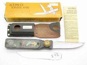 Vtg ACE-PAL-O Seki Japan Gr Apollo Space Age Survival Knife Folding Multi Tool