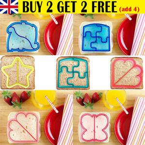 Kids DIY Lunch Sandwich Toast Mould Cookies Mold Cake Bread Food Cutter Tool -