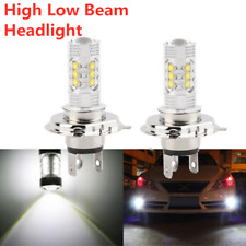 Pair 80W H4 High Power LED 6000K Super White Driving Fog Lights Bulbs Headlight