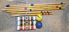 vintage sportcraft croquet set. for parts
