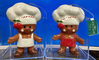 Kurt Adler Gingerbread Chef Ornaments 5.5 inches, 1 Set of 2 Assorted~Christmas