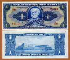 Brazil, 1 cruzeiro (1944) P-132, Hand Signed, Serie 331, UNC > Over 70 years old