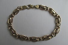 "14K Yellow Gold Chain Bracelet Italy 7 3/8"" long 5.5 grams 7 mm"