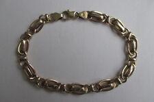 "14K Yellow Gold Chain Bracelet Italy 7 3/8"" long 5.5 grams 7 mm"