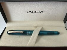 More details for taccia spectrum fountain pen, forest green, 14k music nib