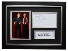 More details for foster & allen signed a4 framed autograph photo display music memorabilia coa