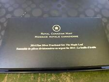 CANADA - 2014 MAPLE LEAF 5-COIN REVERSE PROOF 99.99% SILVER SET IN RCM BOX + COA