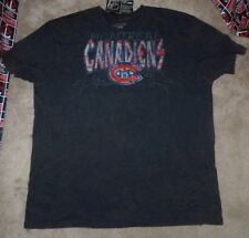 NEW NHL Montreal Canadiens T Shirt Men Old Time Hockey Throwback 2XL XXL NWT