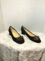 Sesto Meucci of Florence Womens Sz 9m Brown Suede Shoes