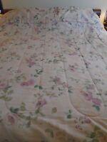 Full/Queen Size Beige Floral Comforter Set