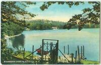 KIAMESHA LAKE BOAT DOCK SULLIVAN COUNTY NEW YORK POSTCARD NY 1910s 21896
